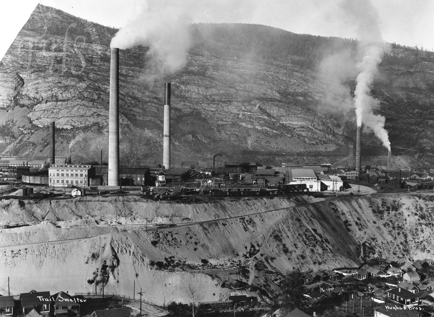 Smelter from West Trail (Hughes) - 1928