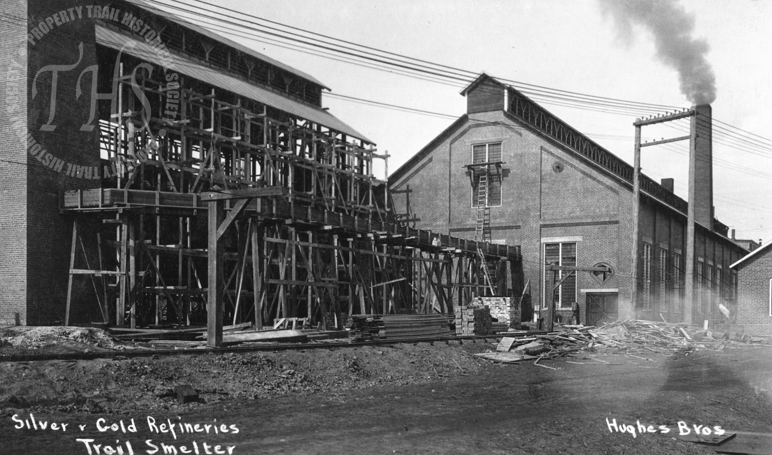 Silver and gold refineries, Trail Smelter (Hughes) - 1928