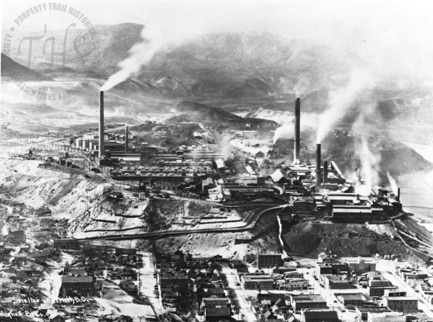 Aerial view of Trail Smelter (Hughes) - 1930