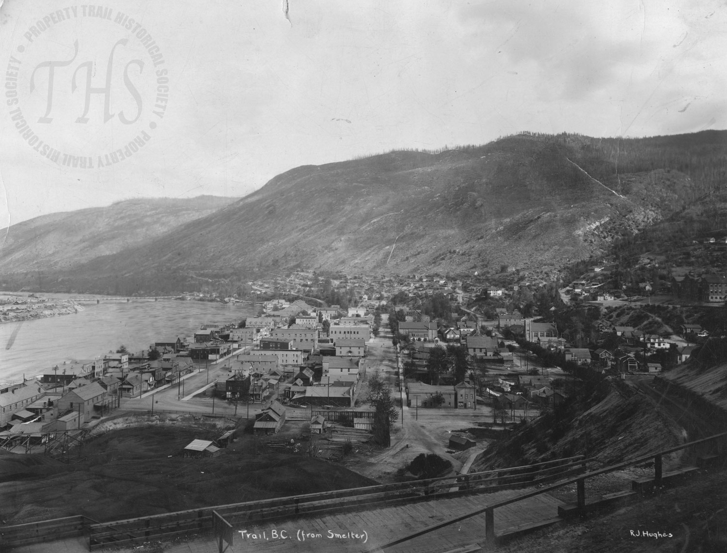 Downtown from Smelter (Hughes) - 1924