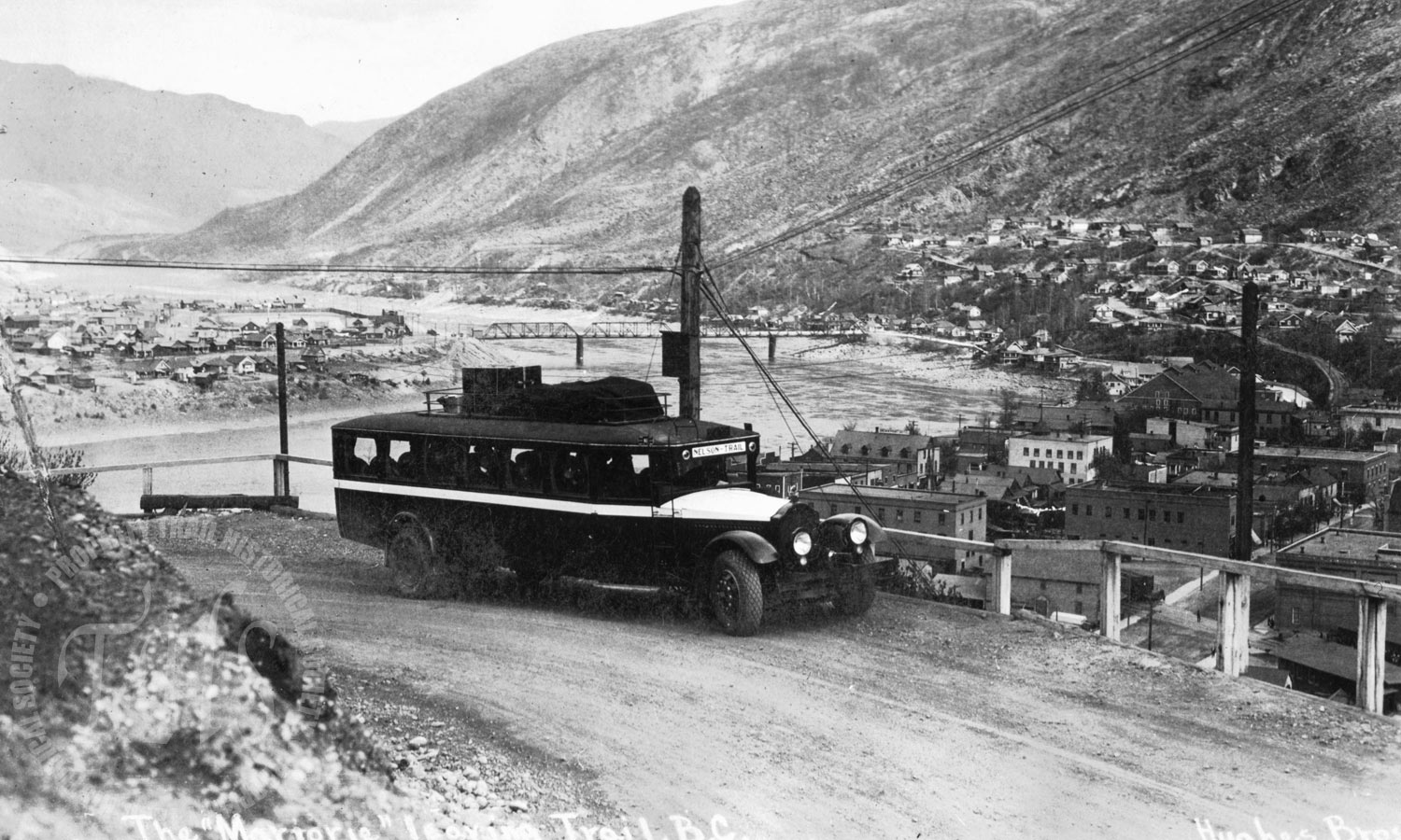 Nelson/Trail bus line on Smelter Hill (Hughes) - 1925