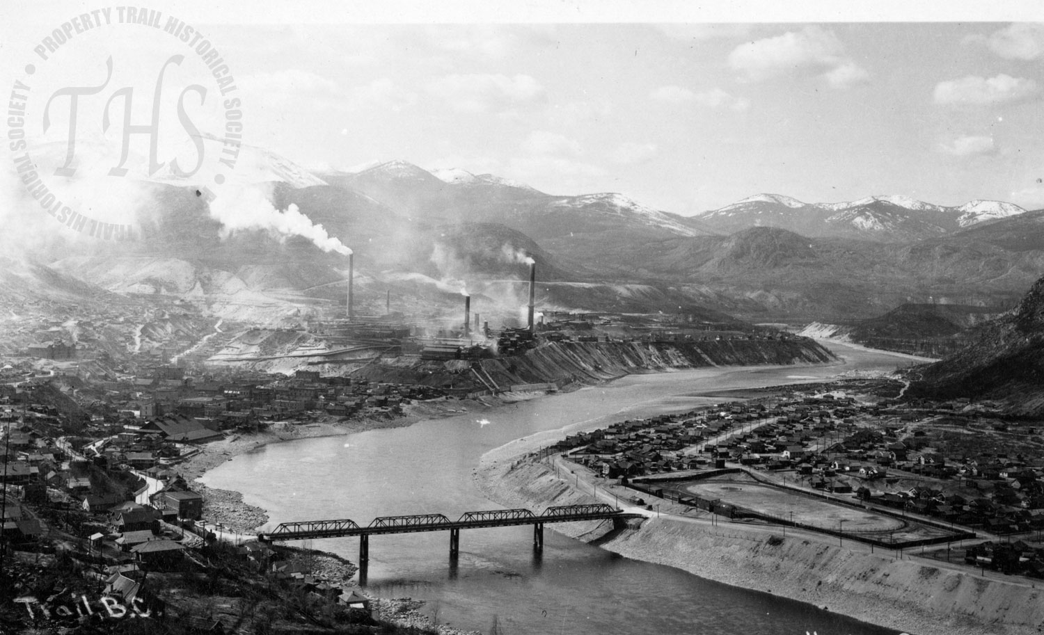 Trail & Smelter, facing north from Casino (Hughes) - 1930