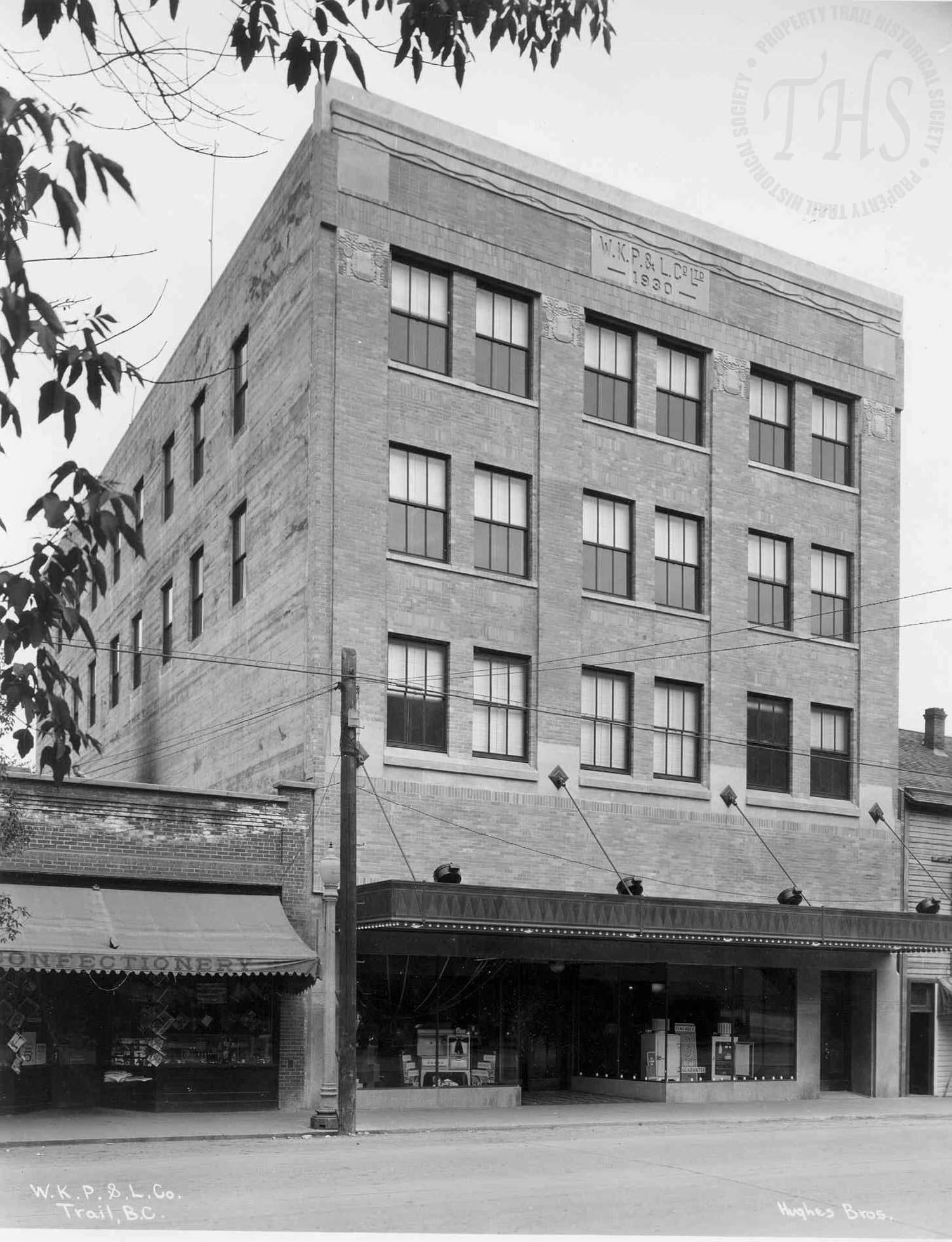 West Kootenay Power & Light Co. offices on Cedar Avenue (Hughes) - 1931