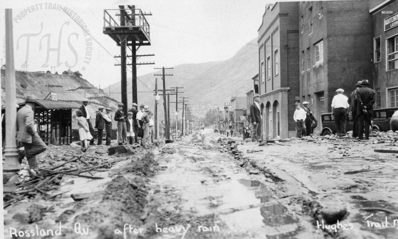 After heavy rain on Rossland Avenue (Hughes) - 1932