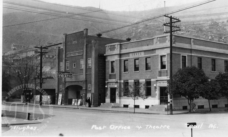 Post Office on Cedar Avenue, Liberty theatre to the left (Hughes) - 1932