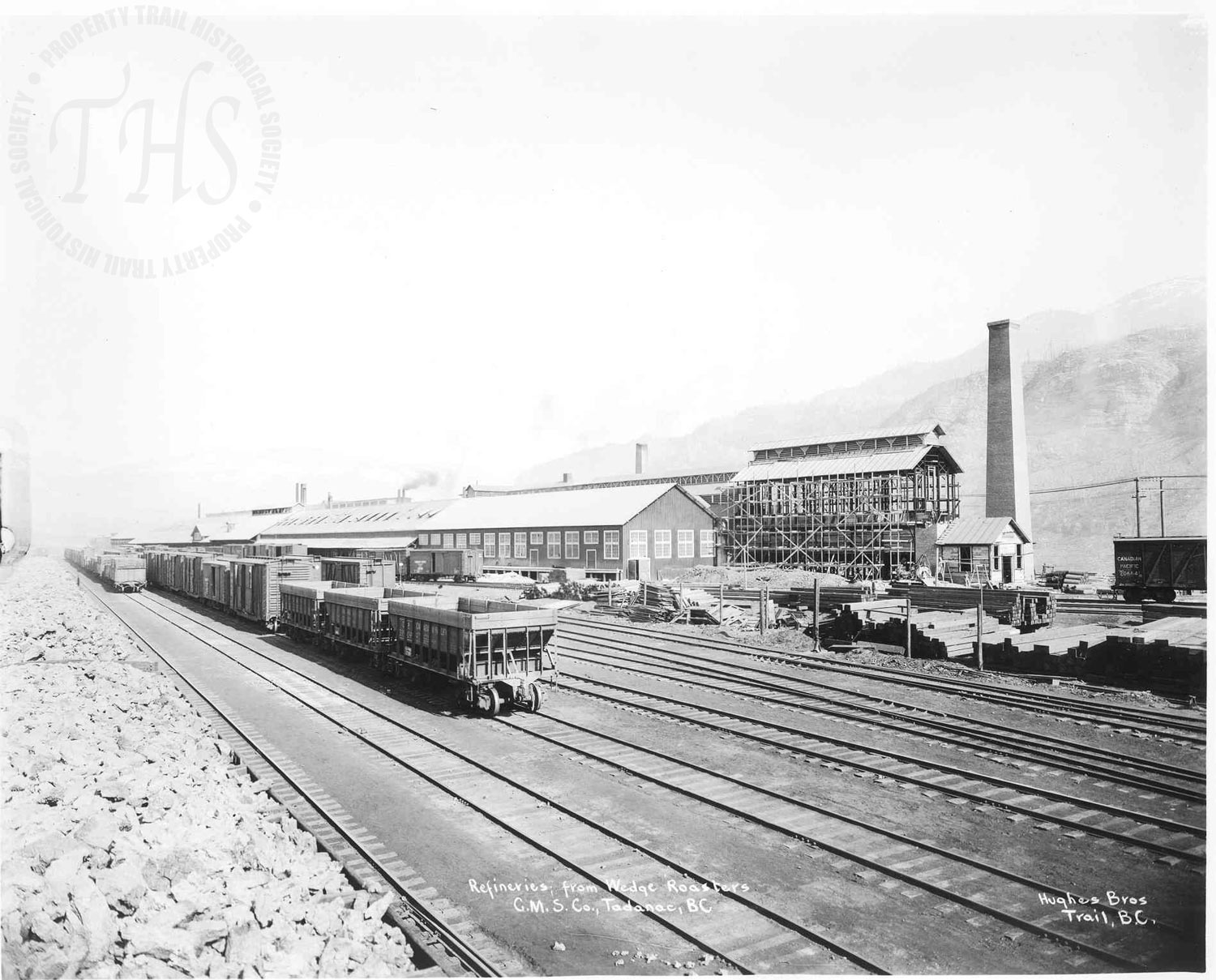 Refinery from wedge roaster, Trail Smelter (Hughes) - 1930