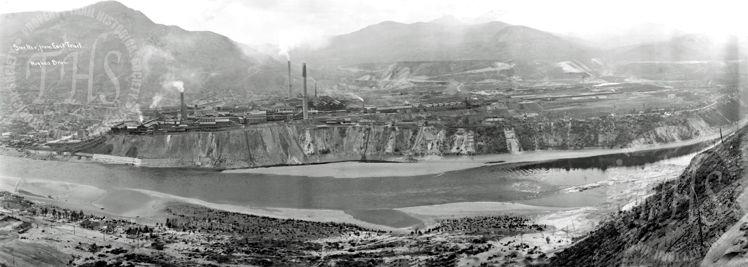 Smelter from East Trail (Hughes) - 1930
