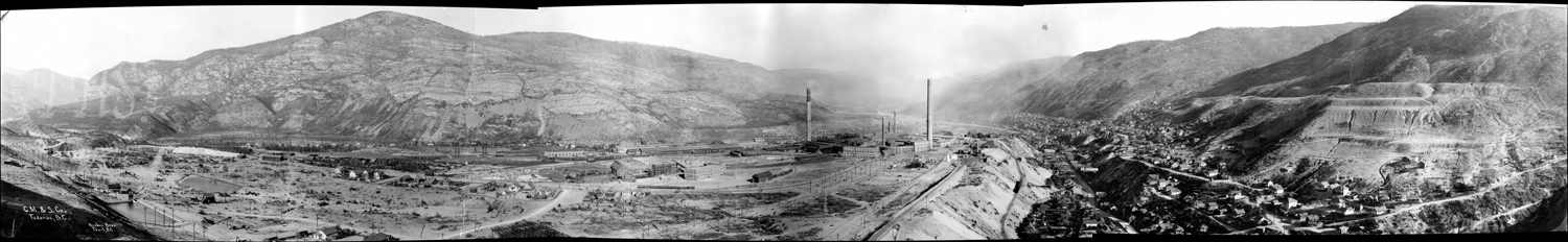 Trail Smelter and Gulch from Warfield Hill (Hughes) - 1930