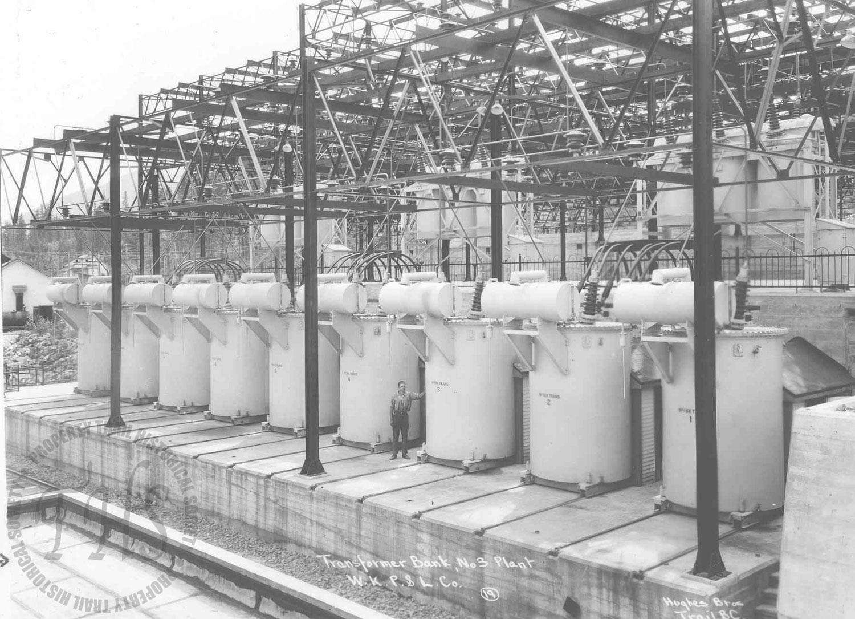 Transformer Bank, South Slocan plant (Hughes) - 1930