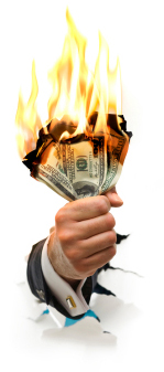 the outrageous costs of a bad hire is like burning money jpeg