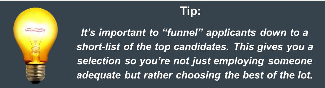 Interview Tips Use a Fast Filter Interview Process Jpeg