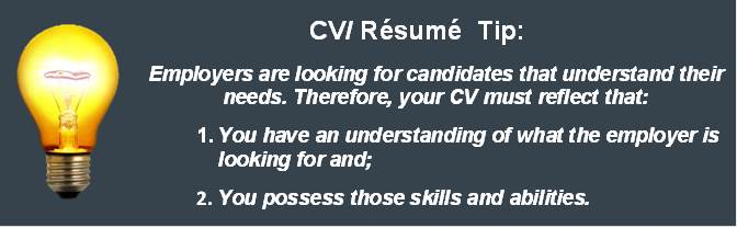 CV Writing Tip Think Like the Employer