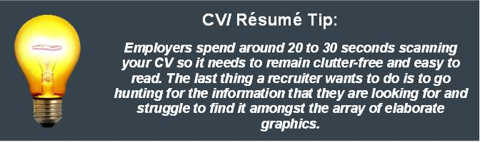 CV Writing Tip Layout and Design Jpeg