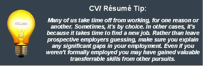 CV Writing Tip for Work Experience Jpeg