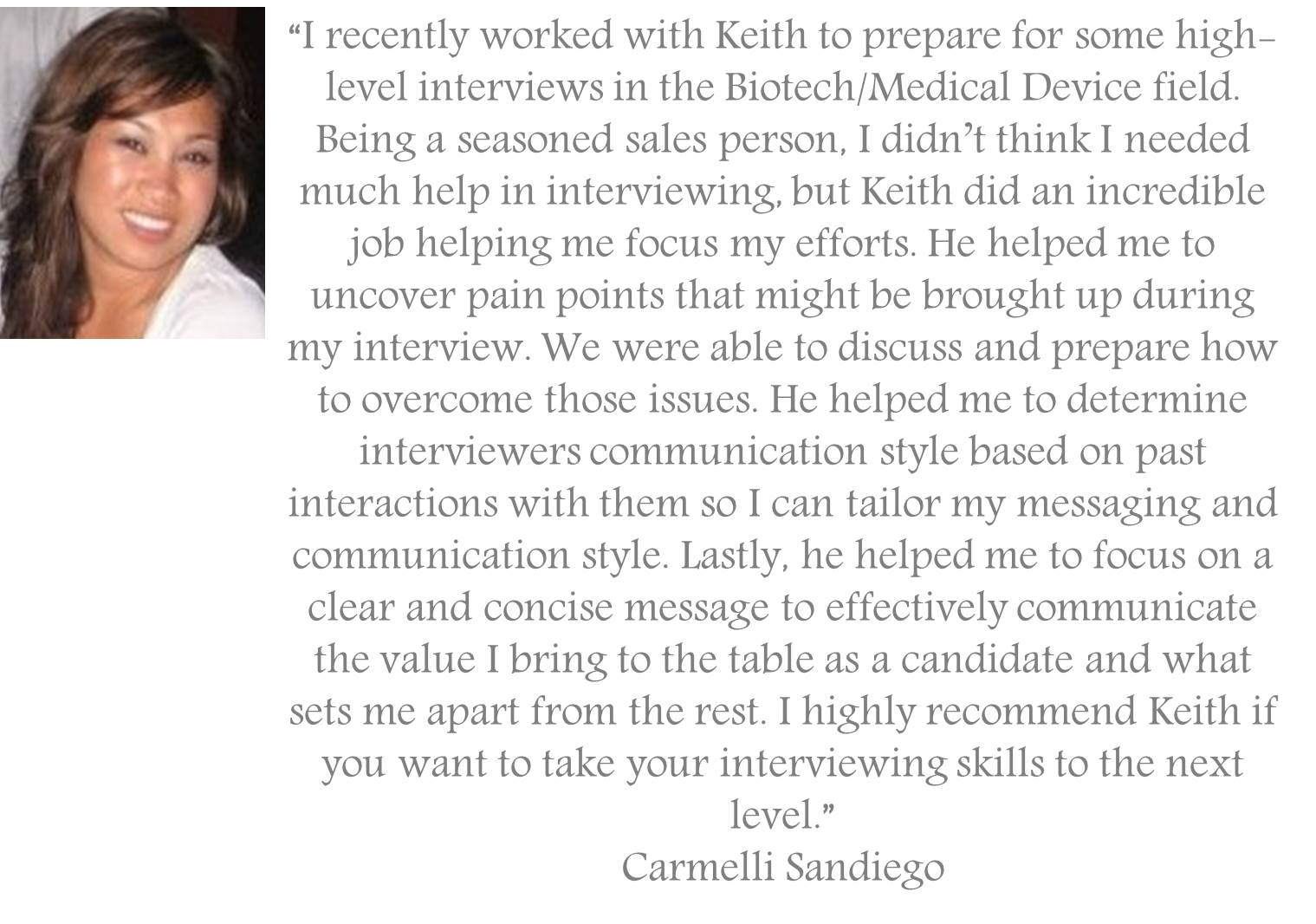 Testimonial for professional interview coaching service jpeg