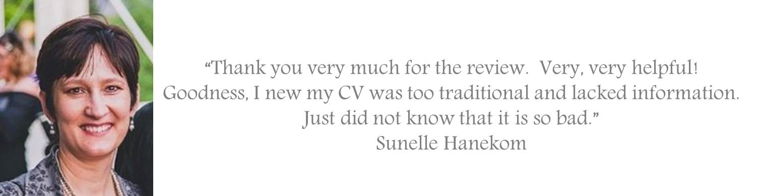 Testimonial for the Manager Foundation Resume Review service jpeg