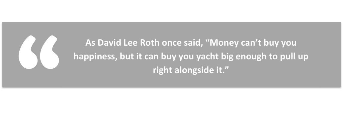 David lee Roth quote about the importance of money