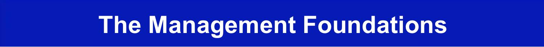 The Manager Foundation Management Foundations Jpeg