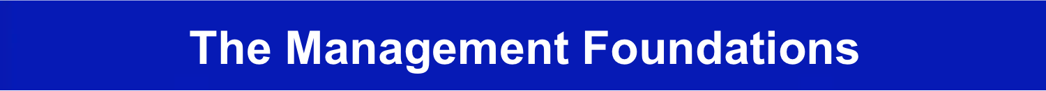The Management Foundations Key Manager Skills Banner Image