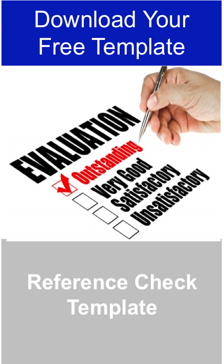 reference check template free download