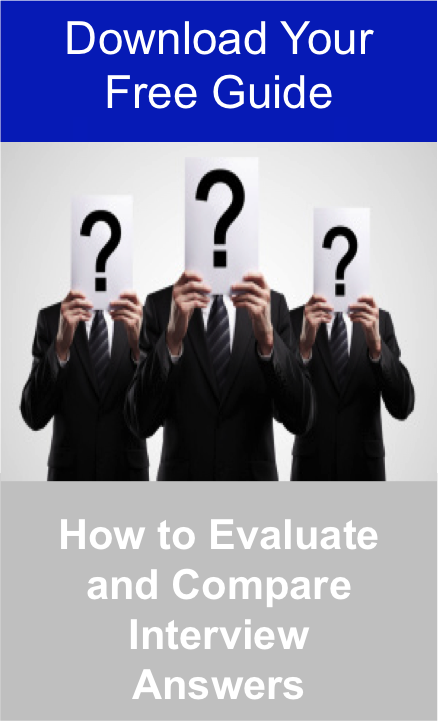 Download your free guide to find out how to evaluate and compare interview answers Jpeg