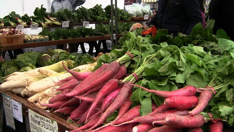 Produce at a farmer's market in Dupont Circle, Washington, DC.   Photo Credit: Erica Christensen
