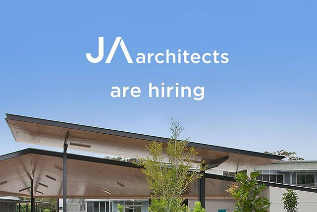 WE ARE HIRING: JA Architects are looking for a GRADUATE ARCHITECT & ARCHITECTURE STUDENT to join the team. ▫ Graduate: Proficiency in Revit and Adobe Creative Suite and min. 1 year post-grad experience. Student: Year-out or Masters student with experience in Revit and Adobe Creative Suite preferable.  More details at www.facebook.com/jaarchitectsbne Send portfolios to mail@jaarchitects.com.au