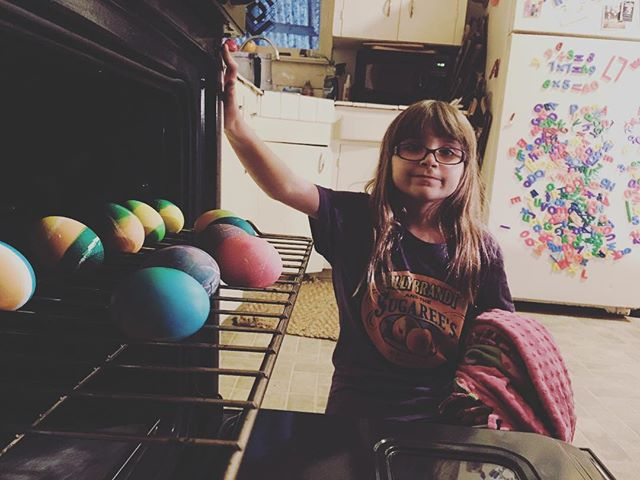 Eggs in the oven. #avalous #easter