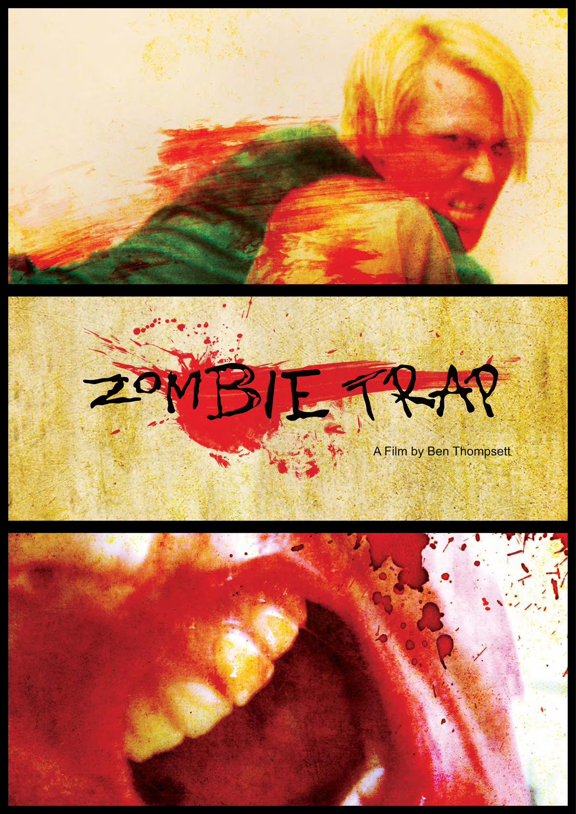 Poster design for short film Zombie Trap by Ben Thompsett. Photography and design by Ulysses Black 2010.