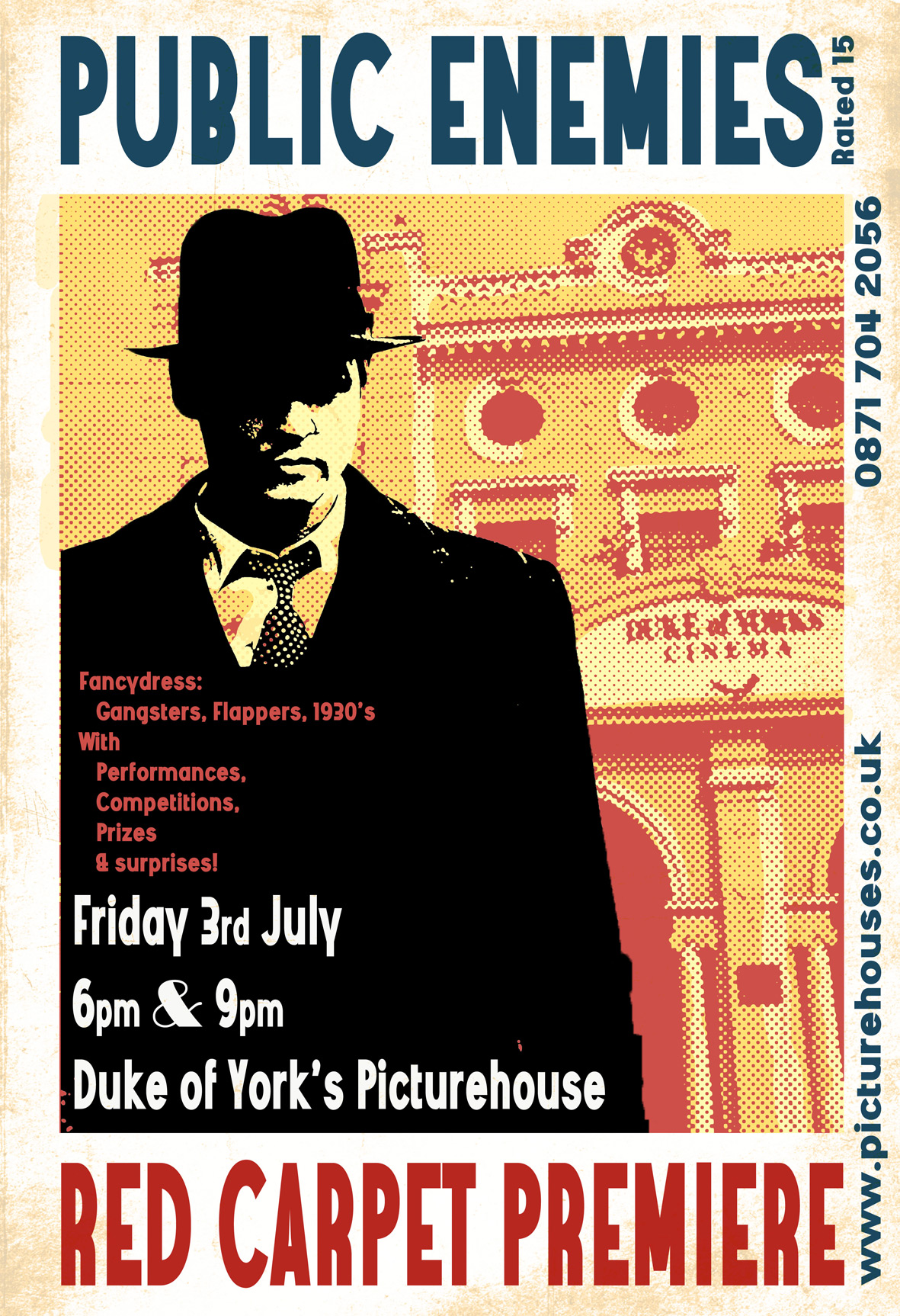 Last minute pormotional poster for the event by Ulysses Black,  2008.