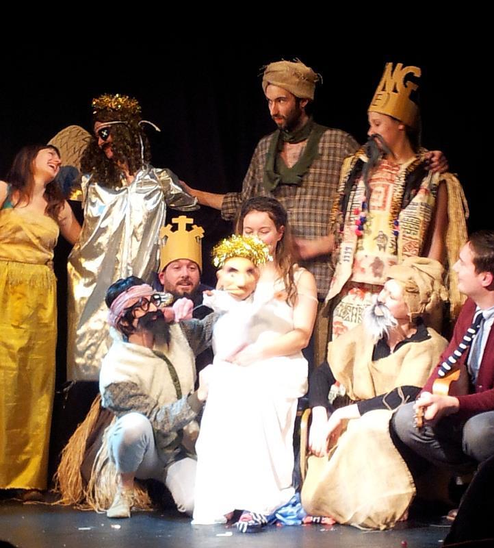 Closing moments of the Happy Clap Trap Xmas Nativity Special. Marlborough Theatre, Dec 2012.