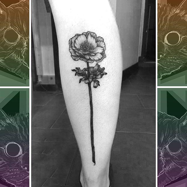 Simple designs don't always have to be small, as @sooztattoo shows with this leg covering flower  #owlcat #owlcattatto #tattoo #tattoos #tattooworkers #tattooartist #tattoosofinstagram #uktta #aberdeen #aberdeencity #scotland #fun #art #ink #tatmaps #bestofbritishtattoo #sonya7 #seeninthedeen #tattooist #artist #solidink #granitecity #flowertattoo #legtattoo #girltattoo #blackwork