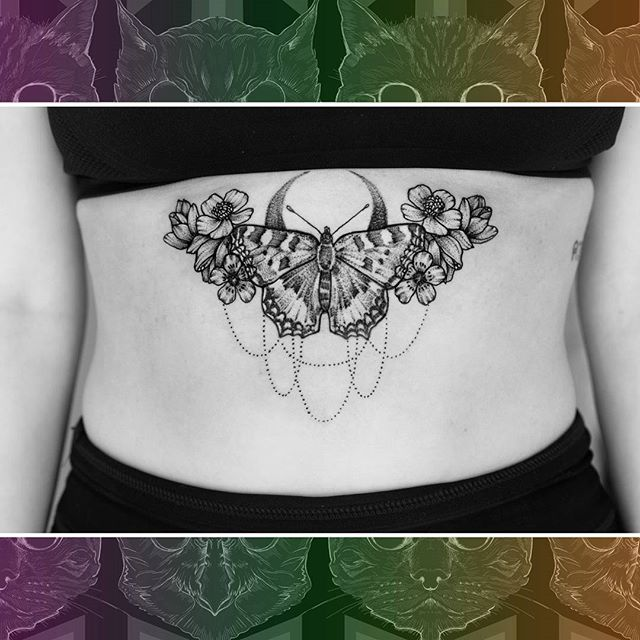 One of @sooztattoo favourite sternum tattoos she has done. From the archives because I am slow at Instagram :) #owlcat #owlcattatto #tattoo #tattoos #tattooworkers #tattooartist #tattoosofinstagram #uktta #aberdeen #aberdeencity #scotland #fun #art #ink #tatmaps #bestofbritishtattoo #sonya7 #seeninthedeen #tattooist #artist #solidink #granitecity #sternumtattoo #butterflytattoo #flowertattoo #blackwork