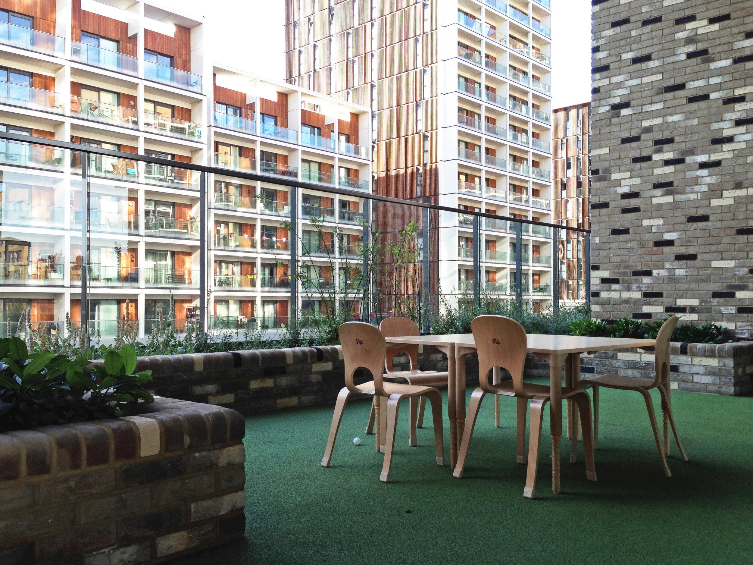 (JF) Second floor / deck level outdoor class rooms