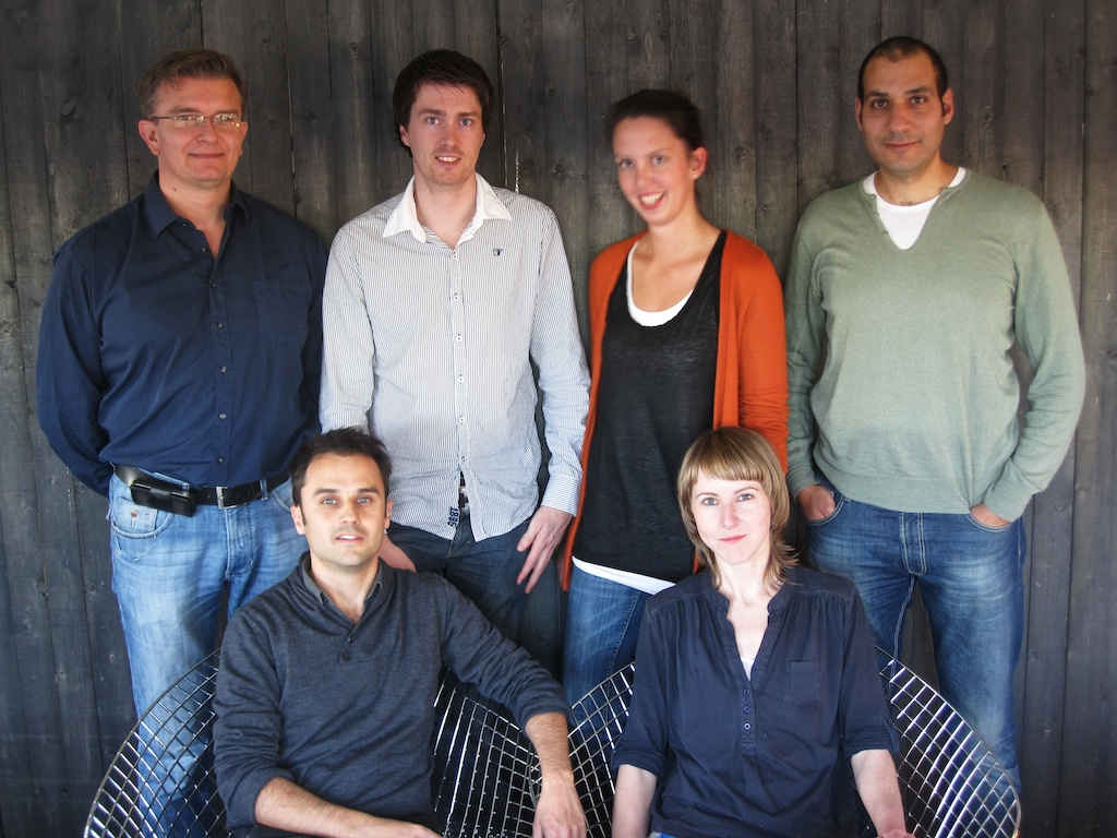 The team (clockwise from top left): Jon Iversen and Asgeir Ljøen (of  Modus Arkitekter ), Isabell Adamofski, Ibrahim Elhayawan and Birgitte Haug (of  Various Architects ) and me.