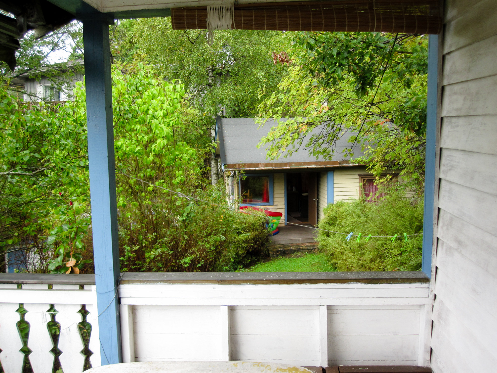 The existing sleeping cabin, seen the main cabin