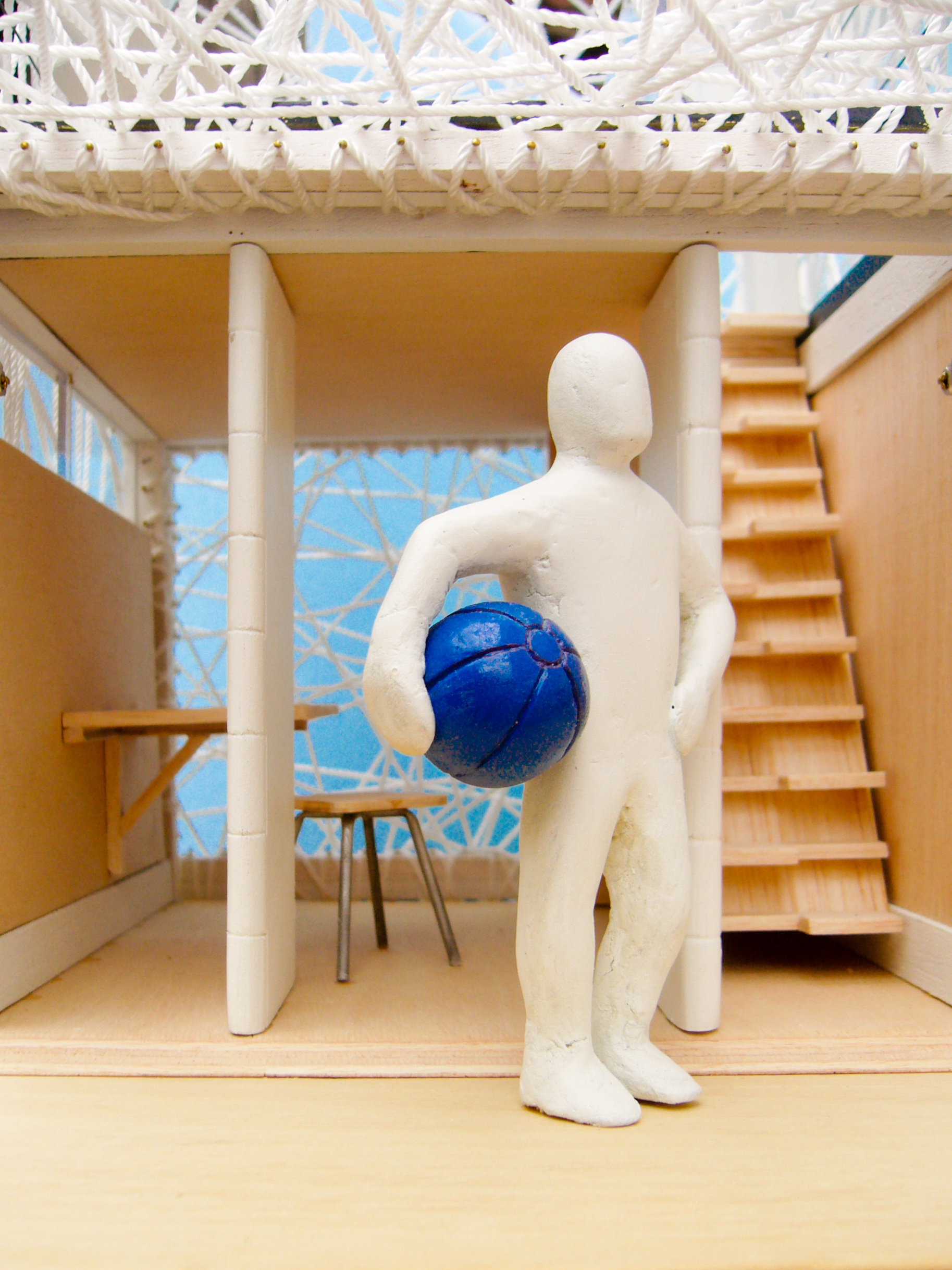 Our physical model for the  Netker 10  beach hut, submitted for the  Bathing Beauties  competition