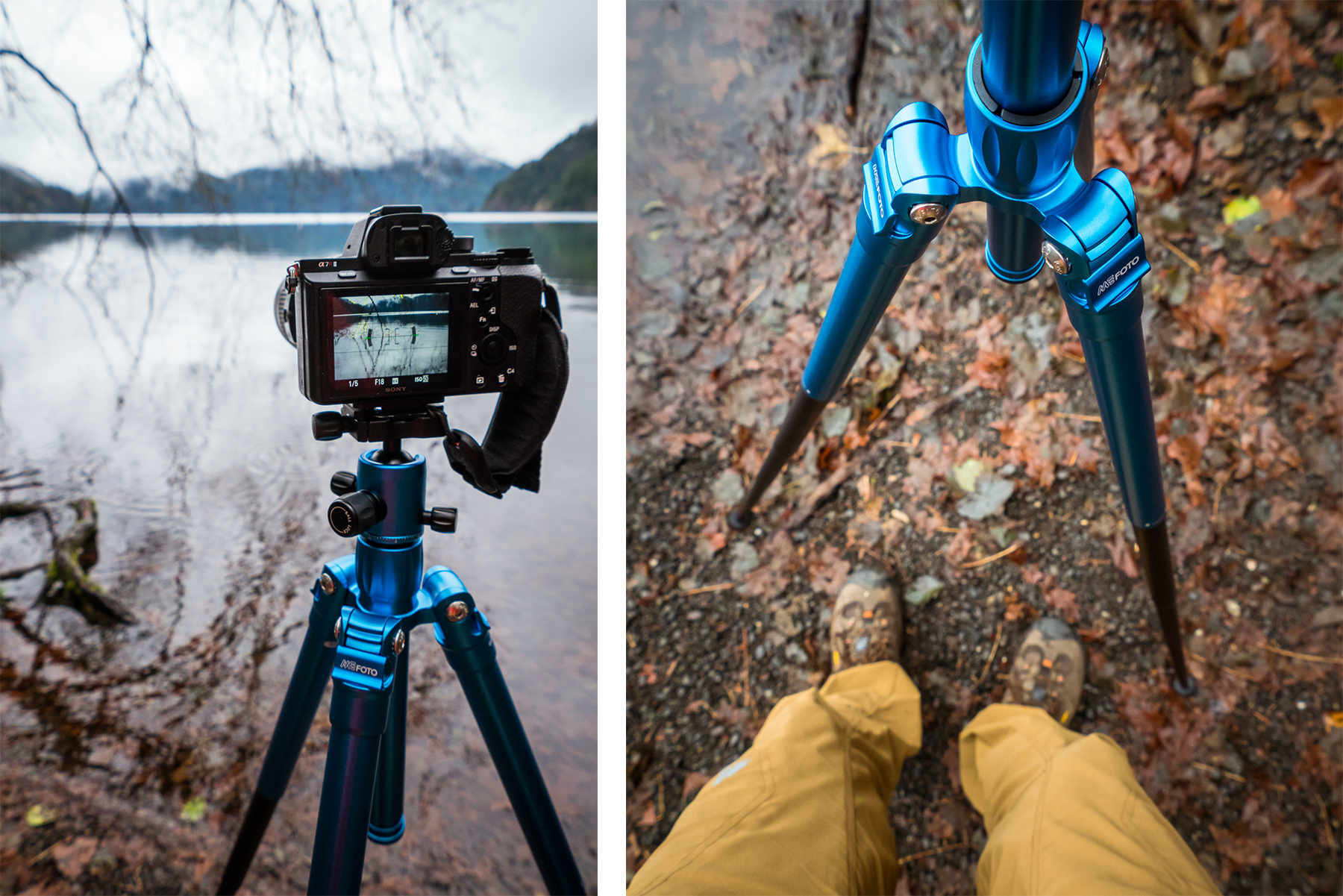 Using the new MeFOTO Globetrotter Air tripod at Lake Crescent.
