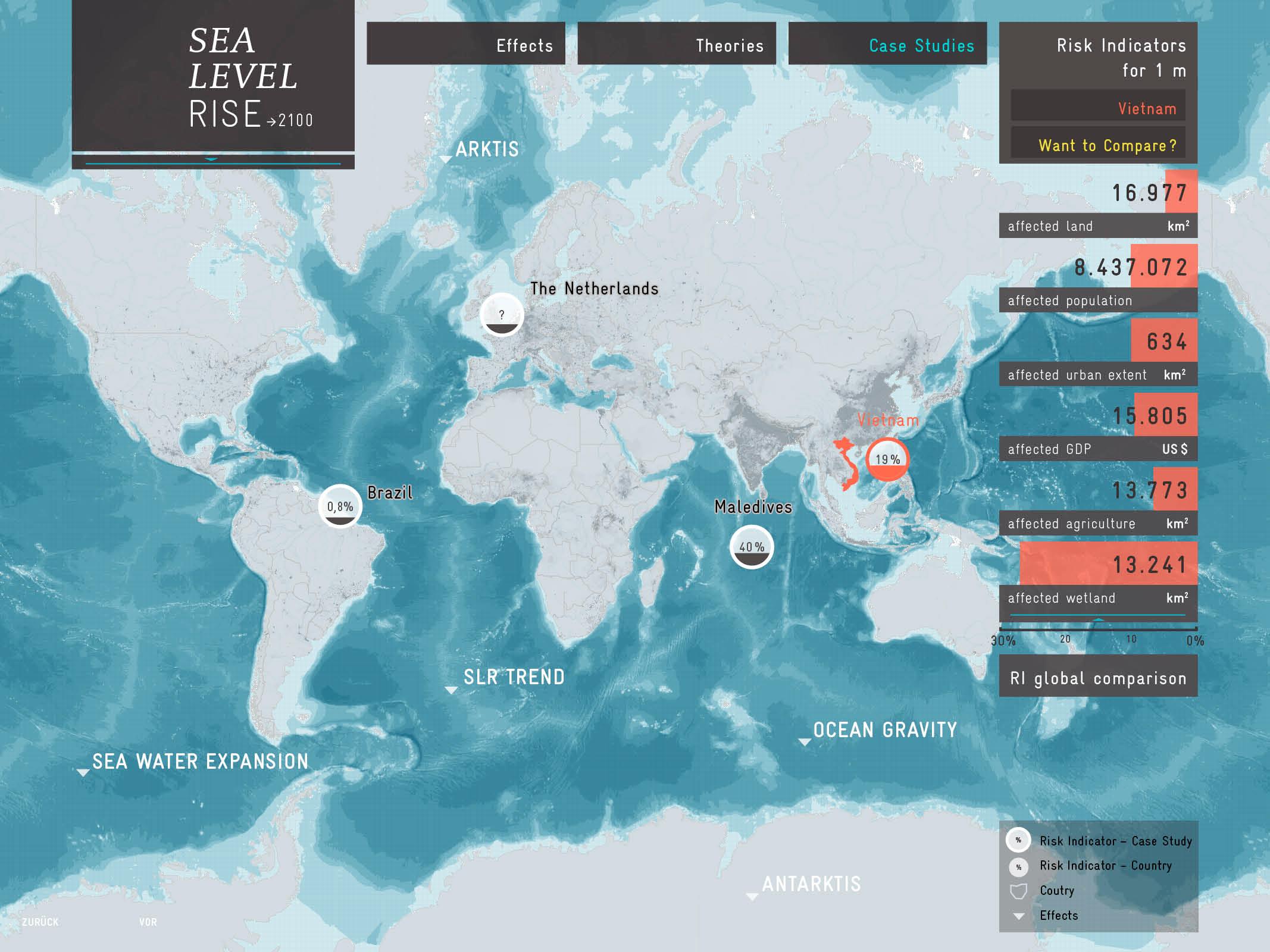 Sea-Level Rise  website prototype
