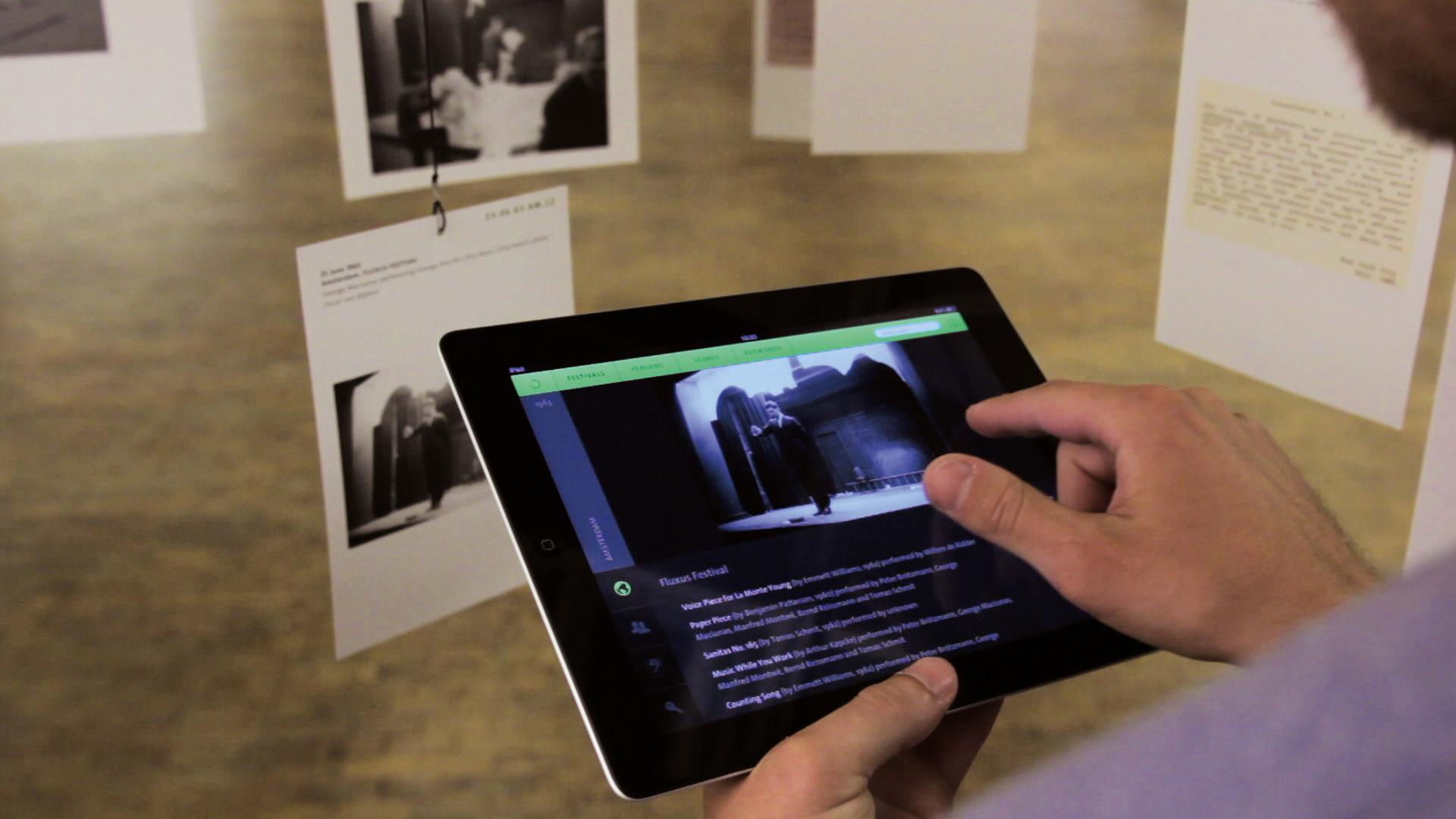iPad app providing the archive