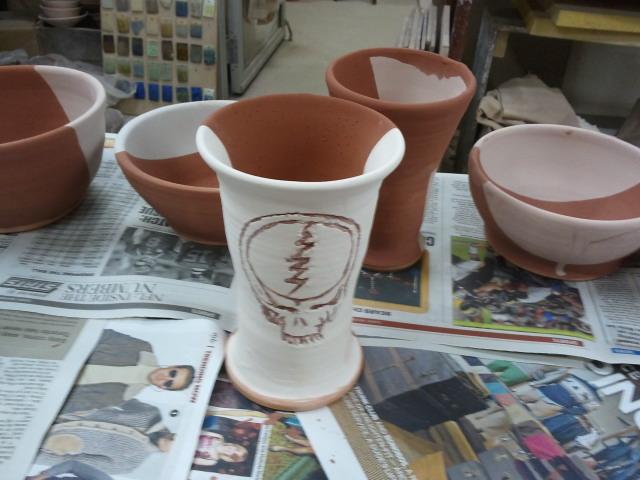 Grateful Dead Goblet - pre-glaze