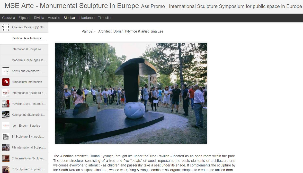 The 8th symposium of sculpture in Korça, held annually, brought forth a  Symposium of Architecture  - the first of its kind in Albania, in a unique collaboration between architects and sculptors.     Read more