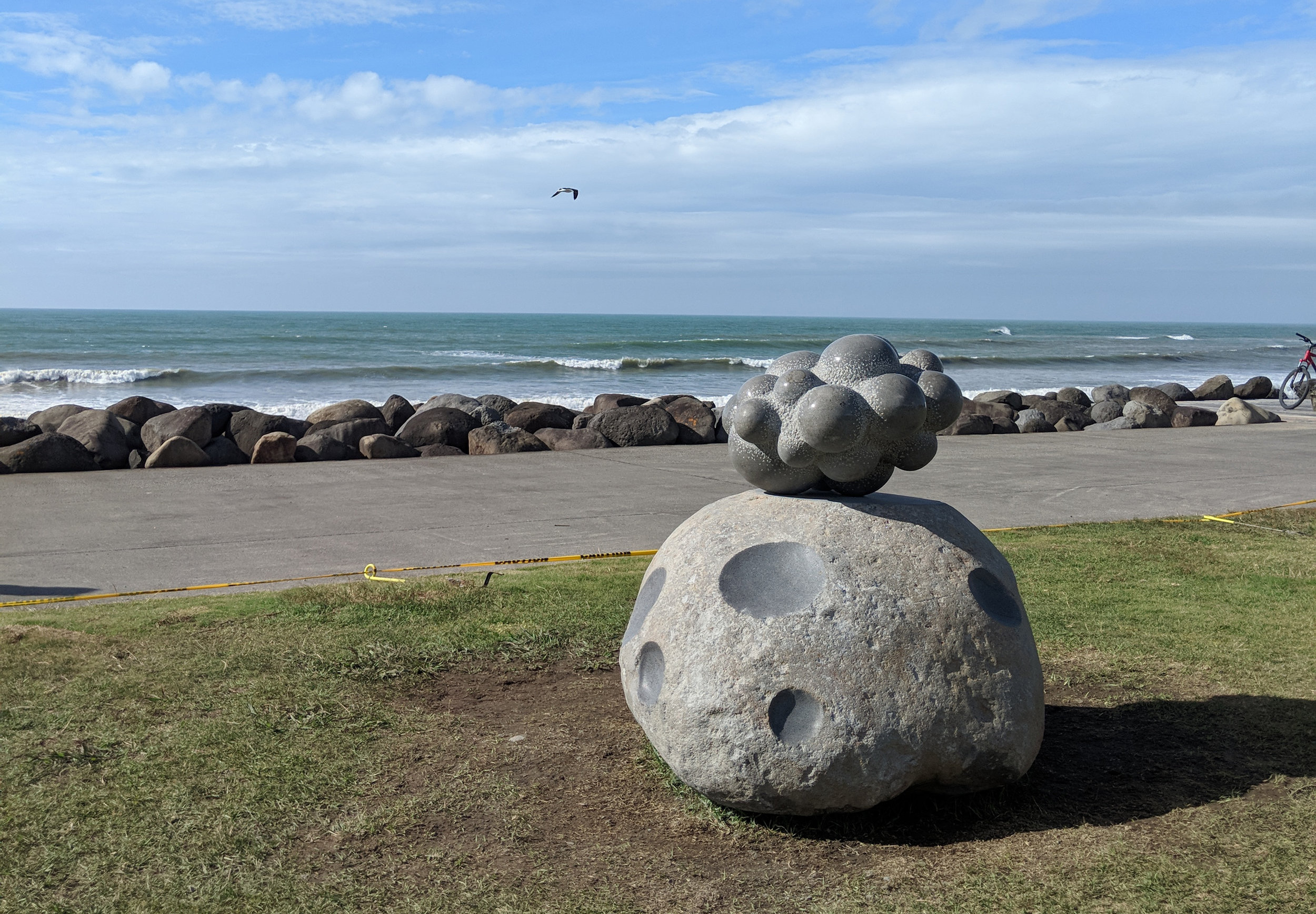 The dust in the universe   ,  andesite, Private collection (New Zealand) 2018