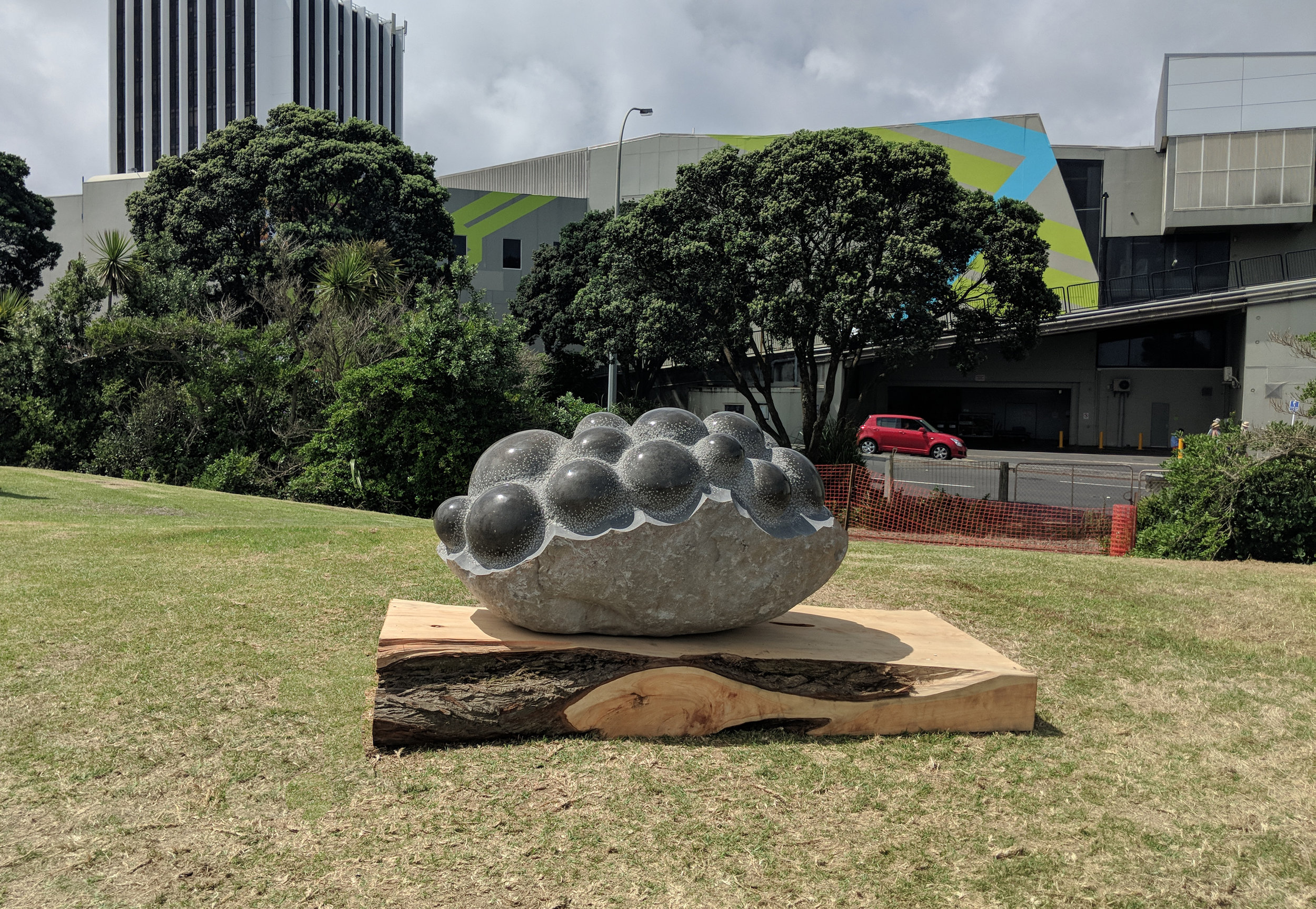 The universe in the dust  , andesite, Private collection (New Zealand) 2018