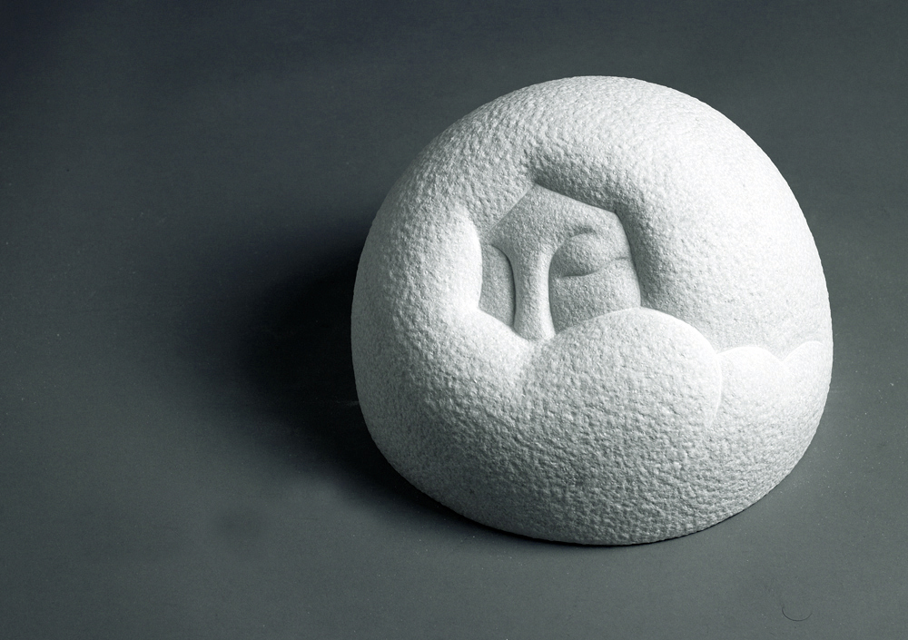 Woman2   28x28x21(cm) Marble (Private Collection, South Korea) 2009