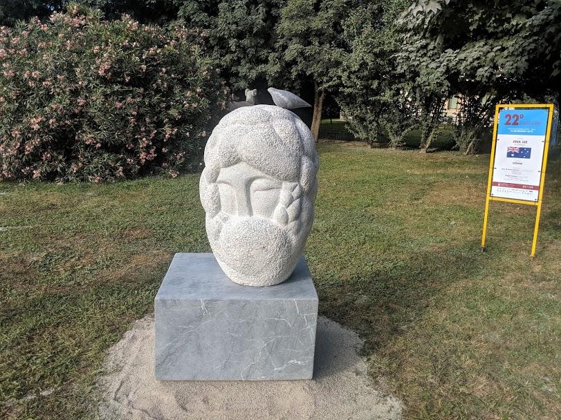 Women,  Marble,160 x 90 x 80 (cm), Sculpture park, Friuli-Venezia Giulia, Italy 2019  Jina Lee