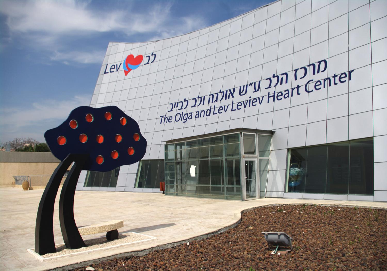 PoeTree – Misley   Zigi Ben-Haim , 2011 18 x 108 x 55 inches | Aluminun, Stone, and Epoxy Paint Sheba Medical Center, Israel