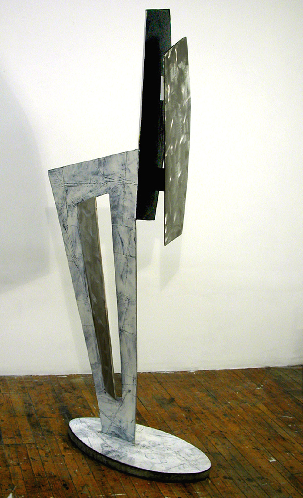 "Misty Source     1999   Concrete, Aluminum, and Acrylic Urethane  82"" x 22"" x 22""  (D-217)"