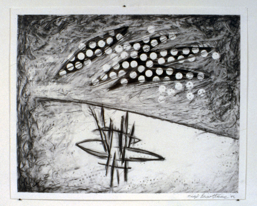 "Untitled     1992   Graphite on paper  17"" x 14""  (C-332)"