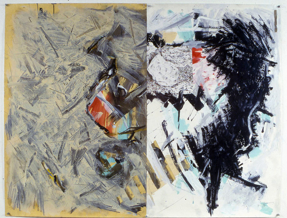 "Untitled    1987   Synthetic charcoal, oil stick, and acrylic on paper  51"" x 39""  (C-91)"